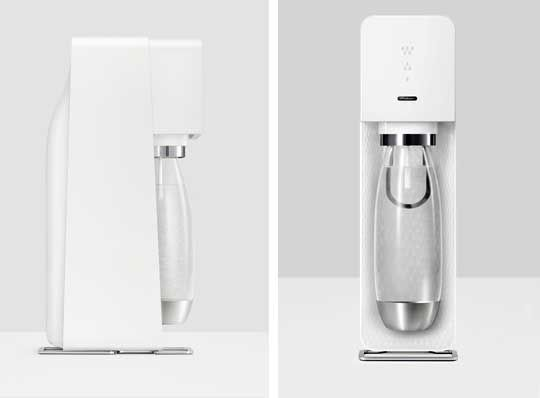 """The SodaStream, which was invented in 1903 and reached peak popularity in the 70s and 80s, has always looked pretty much the same... until now. The company hired Swiss designer Yves Béhar to give the iconic brand a redesign for the new SodaStream Source, and Béhar's design mantra—""""reduce and refine""""—is evident in the redesign."""