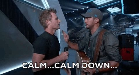 Hot GIF acms calm down acms 2016 american country music awards