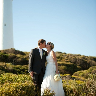 Anna & Gus's Wedding, 2012 Location: Aireys Inlet, Victoria, Australia Photography: Meaghan Cook Photograhy Wedding dress designed by Hilary McAllister