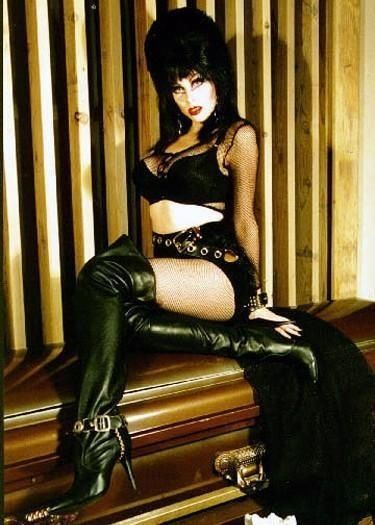 It's a treat whenever Elvira varies her outfit! Elvira