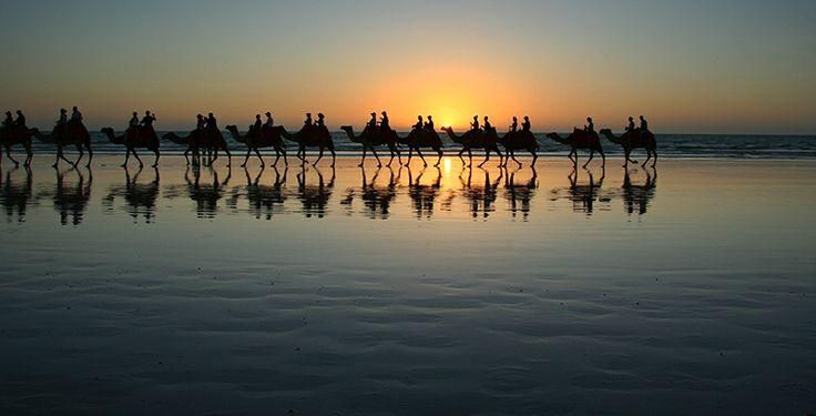 Sun setting on Cable Beach