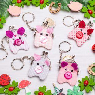 Schweinchen-Glücksbringer-Schlüsselanhänger nähen – buttinette Blog – Manuela Riebel
