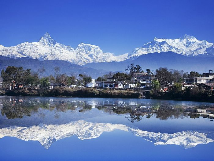 The best lake in the world. Pokhara, Nepal.