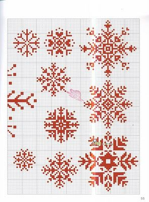 snowflake patterns for cross stitch....nothing beats a little handmade ornament…                                                                                                                                                                                 More