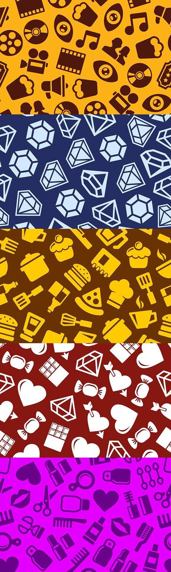 Seamless Background Pattern Set. Patterns