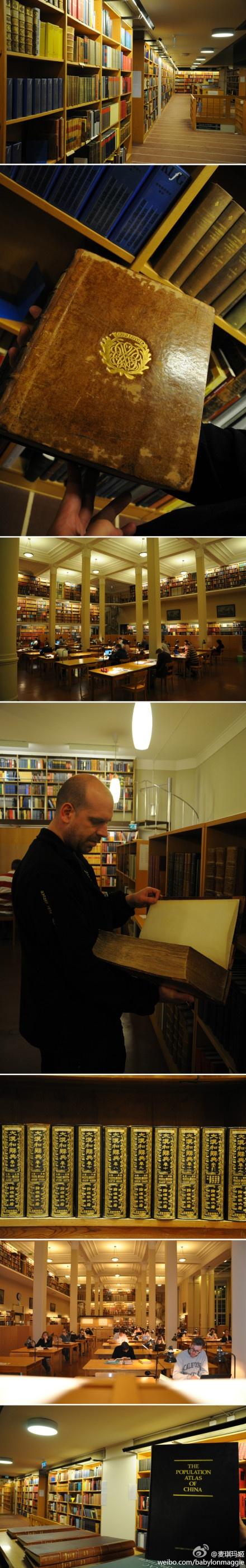 Uppsala University Library. with Carsten, Nov 2012.
