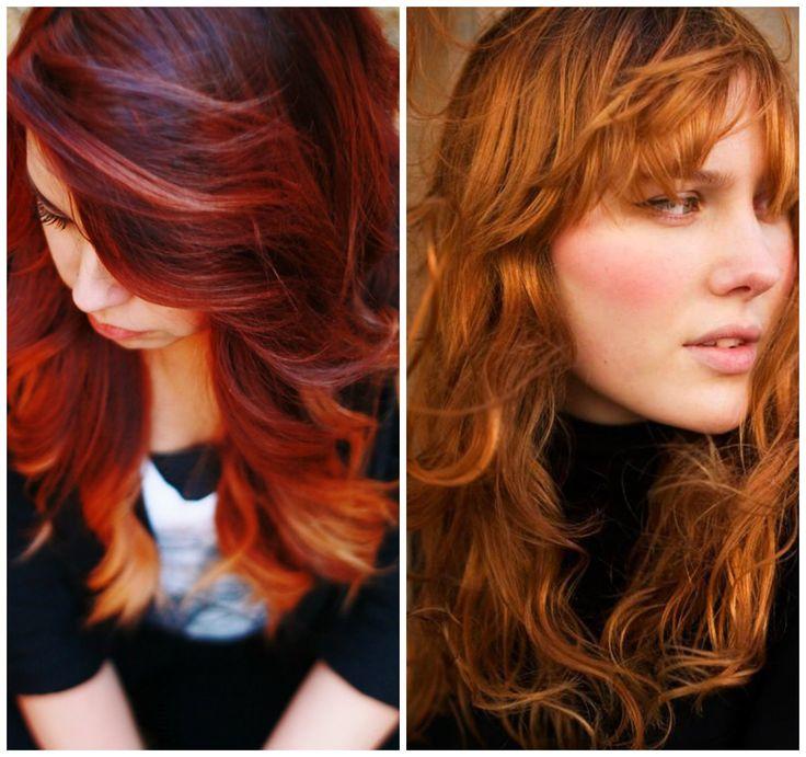 capelli lunghi mossi rossi frangia 2014