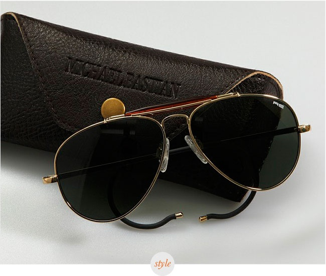 Michael Bastian x Randolph Engineering Signature Sunglasses (which remind me of my old French Army Cebe sunglasses)