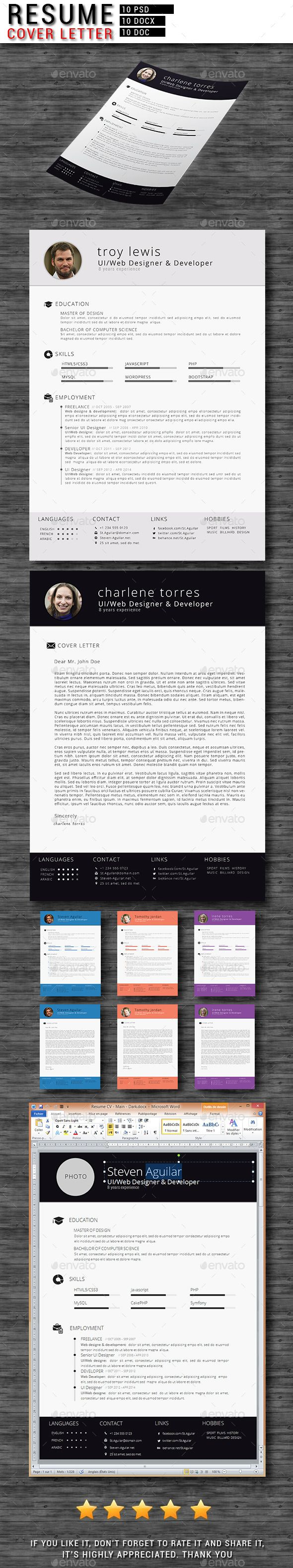 Resume Best Font Word  Best Images About Resume Templates Microsoft Word On  Cashier Duties On Resume Excel with Resume Setup Example Pdf Cvresume  Cover Letter How Do I Do A Resume Word