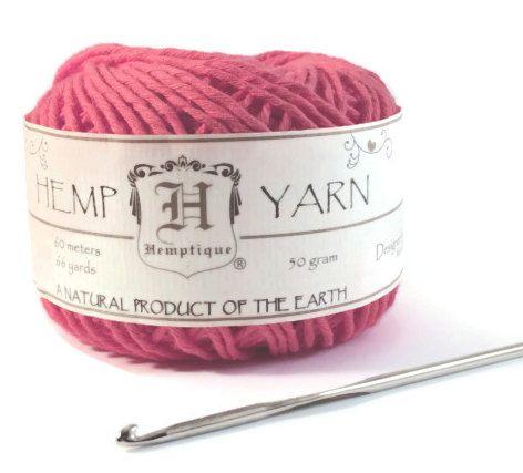 Hemp Yarn, Sunset Coral Cotton Hemp Yarn, Soft Hemp, Knitting Hemp Yarn