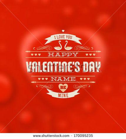 Typographic Valentines Design Template by Vilmos Varga, via Shutterstock