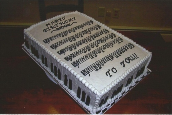 Happy Birthday Sheet Music Cake