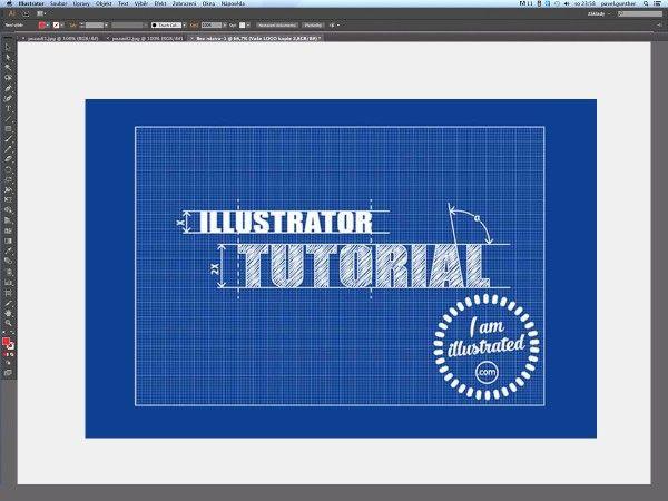 """Tento jednoduchý tutoriál je zaměřen na tvorbu ilustrace ve stylu technického výkresu, tzv. """"modráku""""..."""