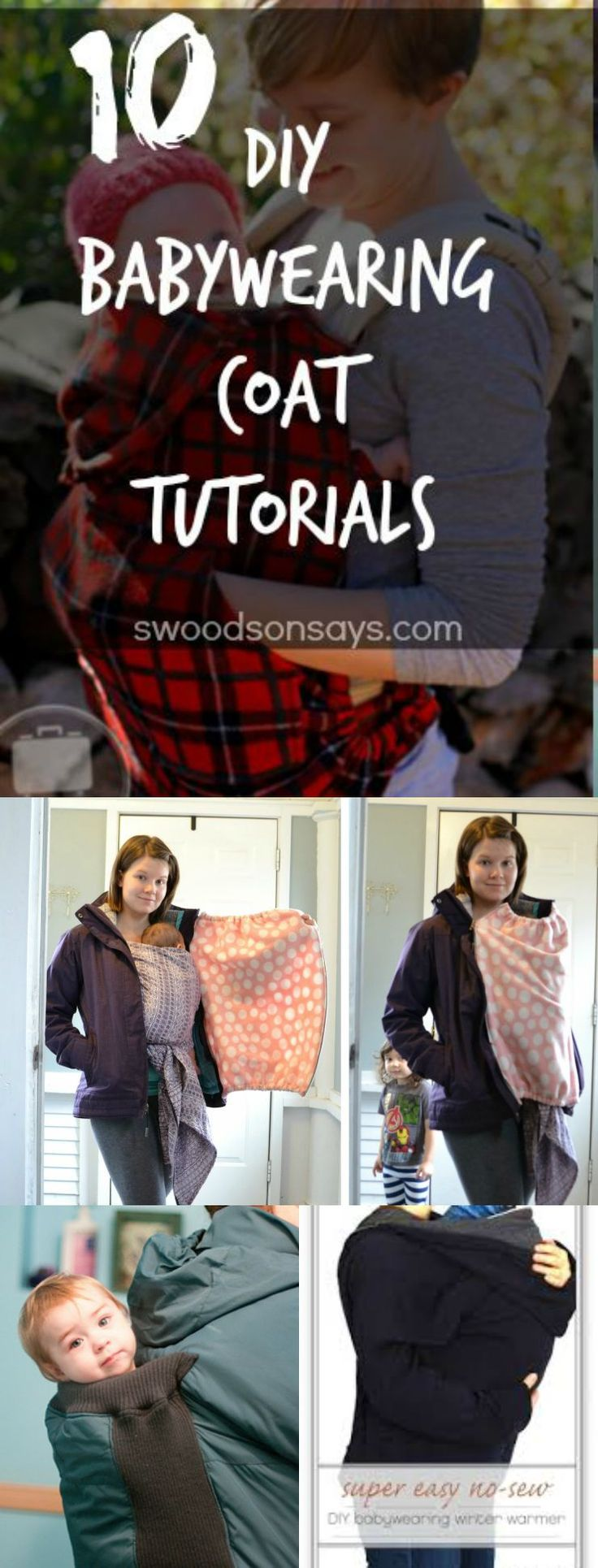 DIY Babywearing Coat Tutorials and Hacks
