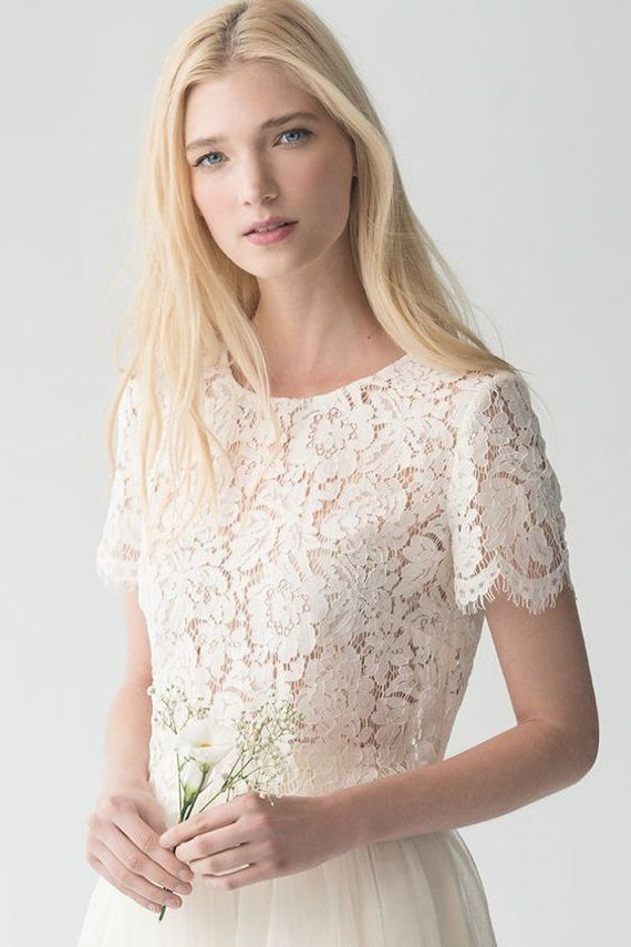 Cord Lace Cover Up Bridal Roxanne Lace Top Bridal Jacket