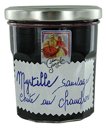 Les Recettes Cuites Au Chaudron – Myrtilles Sauvages: 60% de fruits Fabriqué en France par Lucien Georgelin Cuits à feu nu au chaudron