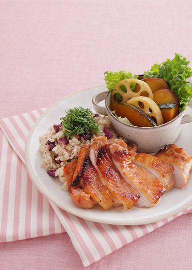 鶏肉のみそ漬けグリルプレート のレシピ・作り方 │ABCクッキングスタジオのレシピ | 料理教室・スクールならABCクッキングスタジオ