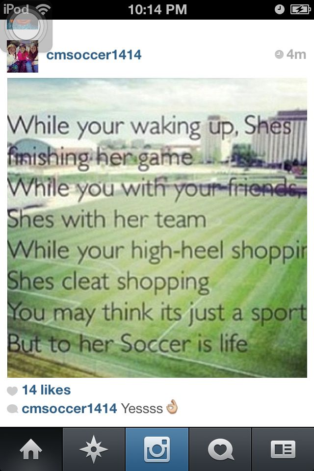 I'm a soccer girl!!! ⚽❤⚽❤ always will be!!!