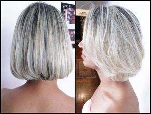 cabelo platinado em cor perola