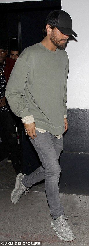 Hitting the town: On Wednesday Scott Disick was back on the West Hollywood party circuit as left popular spot Villa Lounge and headed to 1OAK, with a leggy blonde exiting at the same time