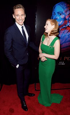 Tom Hiddleston & Jessica Chastaib at Crimsin Peak part 3