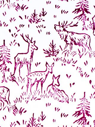 PINK DEER WRAPPING PAPER  www.thebirdhousecollection.com.au