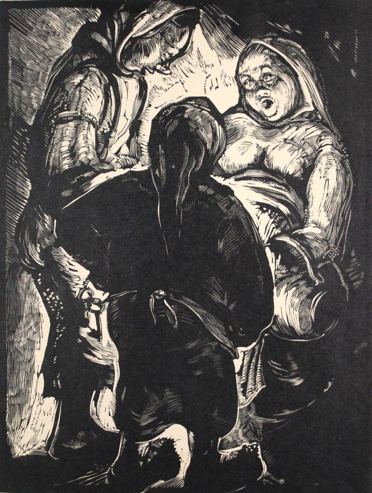autor: Koloman Sokol title: The Birth date of origin: 1930 – 1940 technical details: woodcut