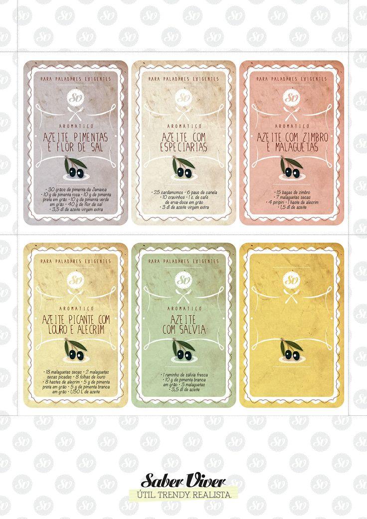 Rótulos para azeites aromatizados!