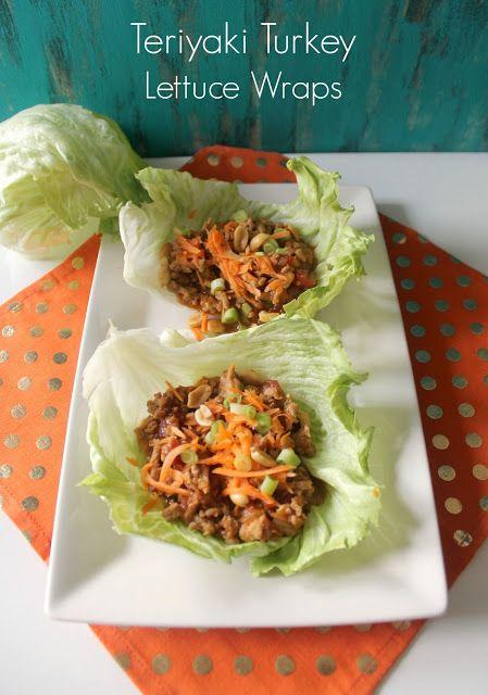 Teriyaki Turkey Lettuce Wraps, clean eating