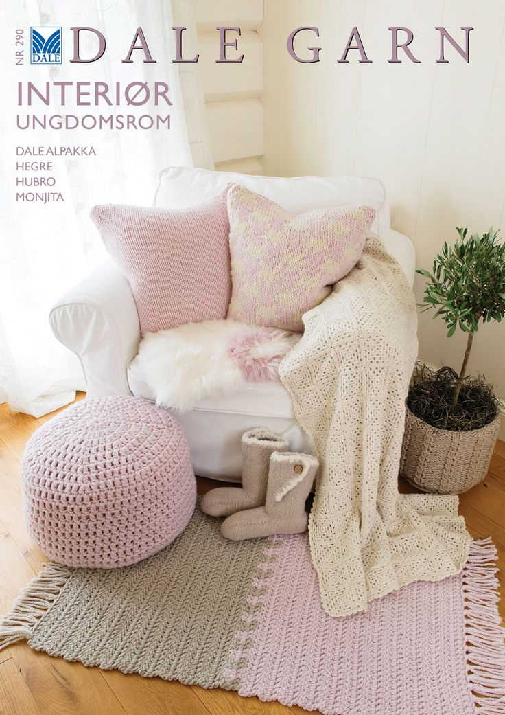 #DaleGarn DG290 DIY Interiour knitting design. Free patterns for download