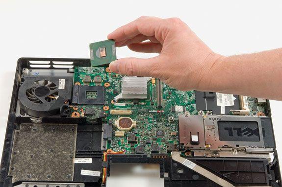 processador instalado em um notebook