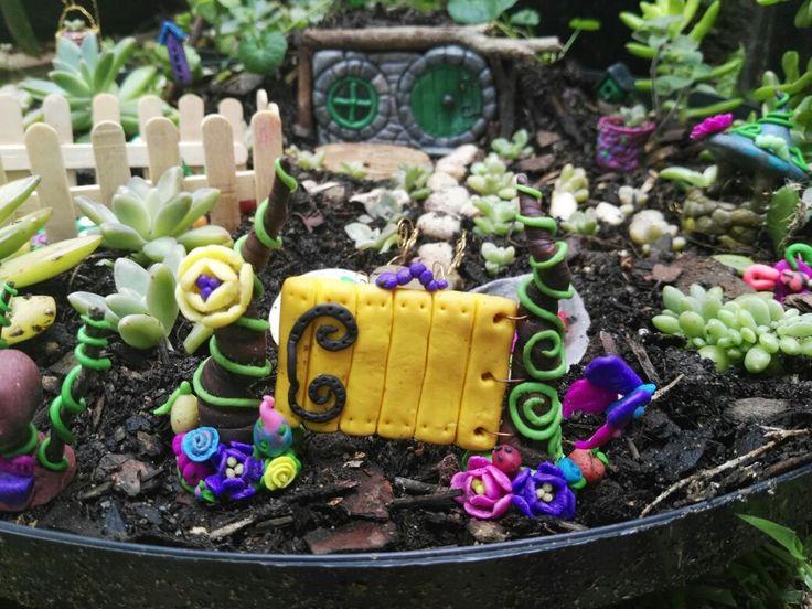 Fairy garden in progress.