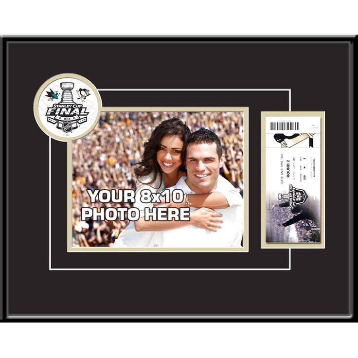 """Pittsburgh Penguins 2016 Stanley Cup Finals 8"""" X 10"""" Photo & Ticket Frame - $63.99"""