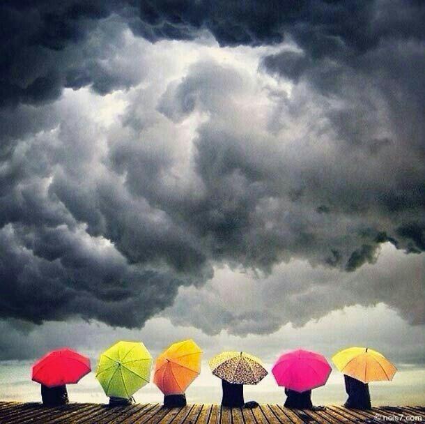 Que temporal em... muito lindo, o colorido no tempo nublado!