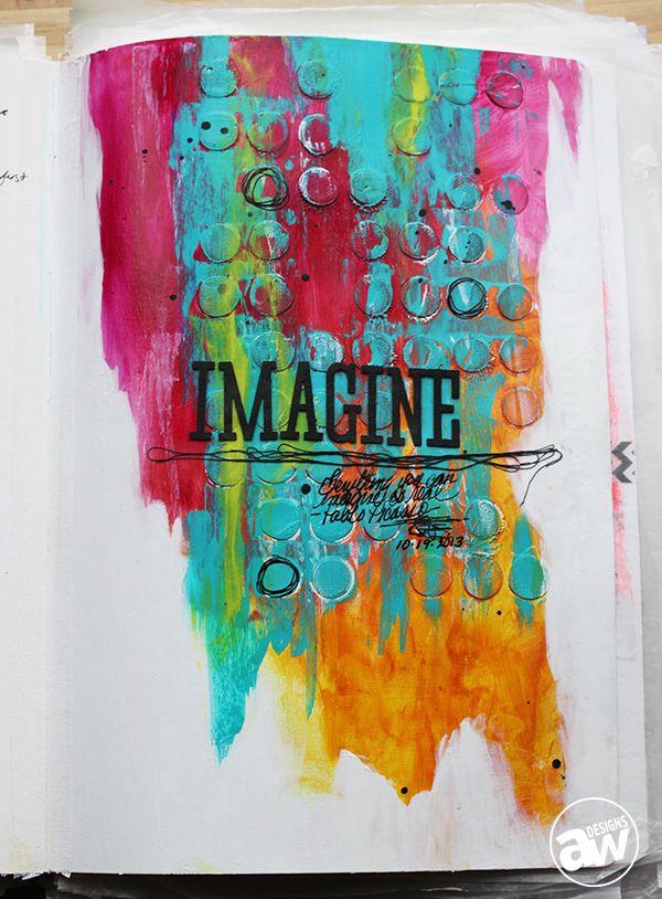 Imagine by Andrea Walford, artist interviewed by Rhonda Palazzari...
