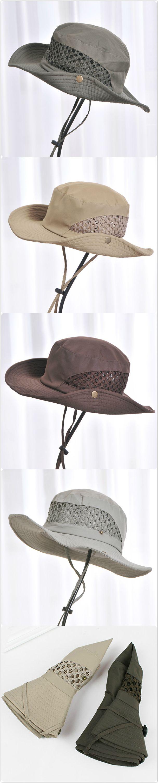 Men women foldable mountaineering fishing mesh cap bucket hat folding  outdoors sun hat linaqxo dope hatsjewelry 24c9d57a3cbf