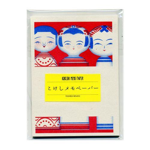 こけしメモペーパー - レトロ印刷JAM オンラインお店
