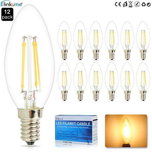 10 x 4W E14 LED-Birne, Warmwei�, Epistar-Birne COB LED lampe (Gl�hlampen AC220 V Kerzen)