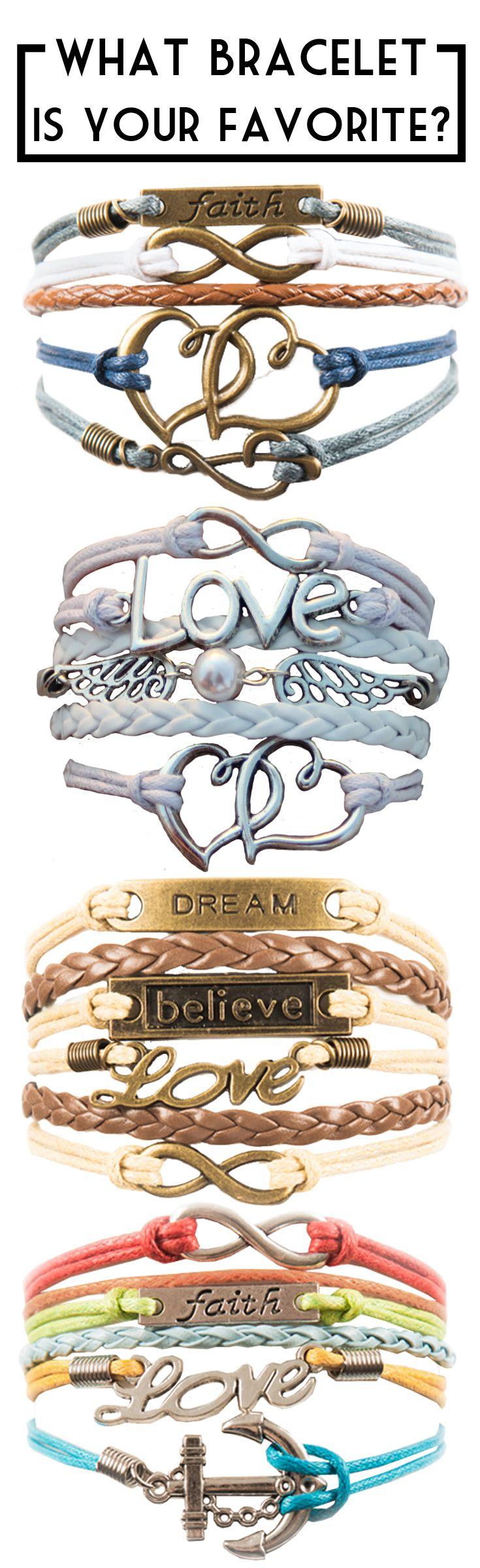 What bracelets are your favorite?!? For a limited time get up to 3 of our best selling bracelets for FREE. Just pay shipping. Pin it to save this great deal for later!!