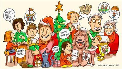 Älä anna joululahjaksi krääsää. Turha tavara syö luonnonvaroja ja tuottaa turhaa jätettä. HSY ja Luonto-Liitto toivottavat krääsätöntä joulua!