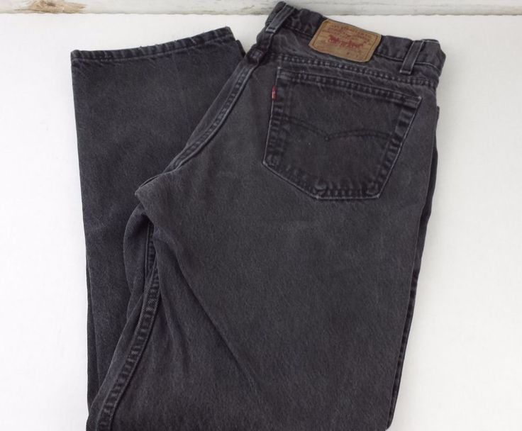 Men's Levi's 506 Straight Leg Faded Black Stone Washed Jeans Size 38 x 32 Retro #LeviStraussCo #Straight