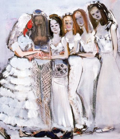 Marlene Dumas, Ryman's Brides, 1997, oil on canvas