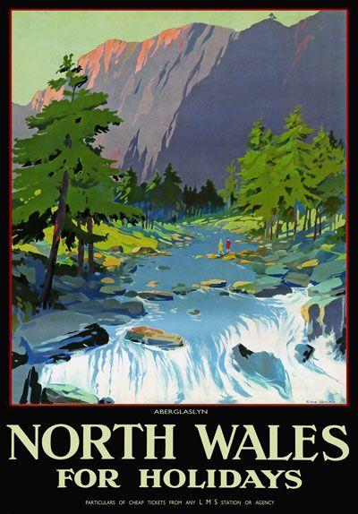 Vintage Wales travel poster