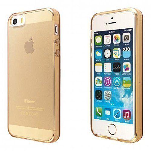ECENCE Apple iPhone 5 5S Silikon TPU case schutz hülle handy tasche cover schale durchsichtig gold 12010404 , http://www.amazon.de/dp/B00V91EFXW/ref=cm_sw_r_pi_dp_cPaRvb03JYXSN