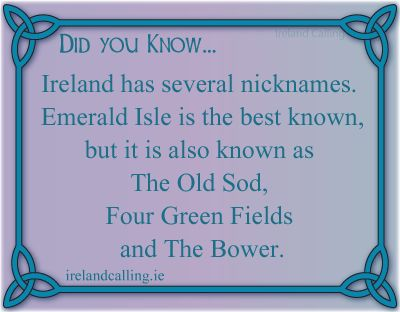 Fascinating Facts | Ireland Nicknames. Visit Ireland Calling for more fascinating Irish facts.