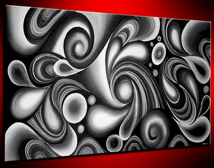 Black white painting by Doria