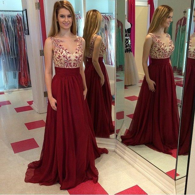 Elegant Lace Burgundy Prom/Evening Dress#promdresses#eveingdresses#Burgundypromd…