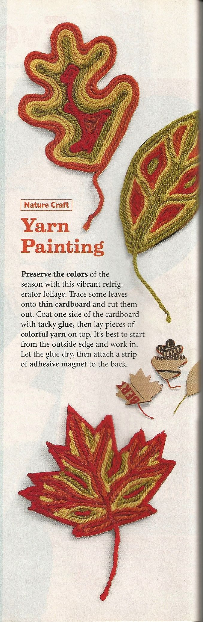 Yarn Painting from Family Fun Magazine October 2007 issue