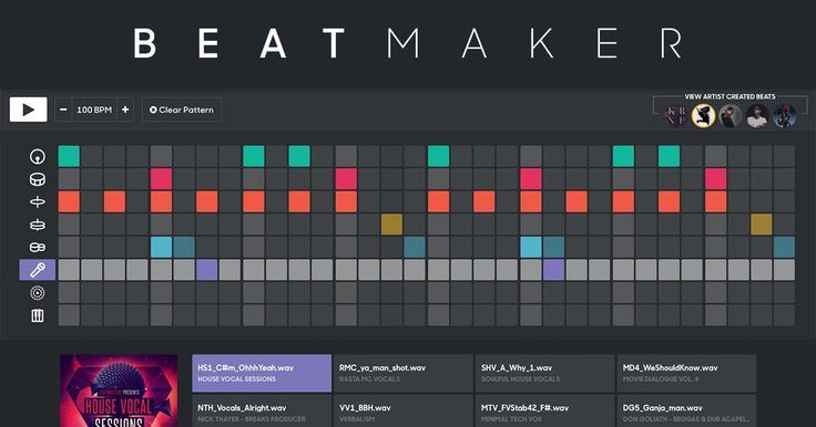 Make and share beats in your browser with samples from
