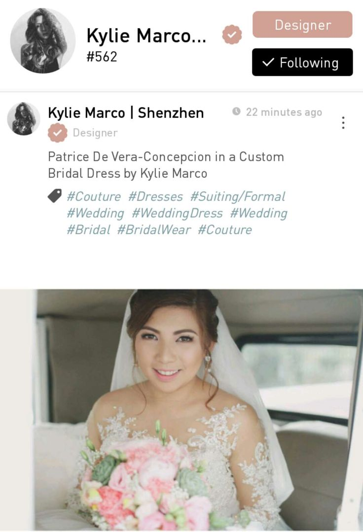 Kylie Marco, a fashion designer from the Philippines based in Shenzhen, China.